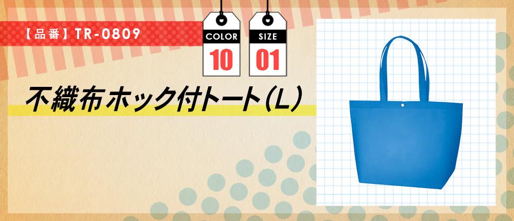 不織布ホック付トート(L)(TR-0809)10カラー・1サイズ