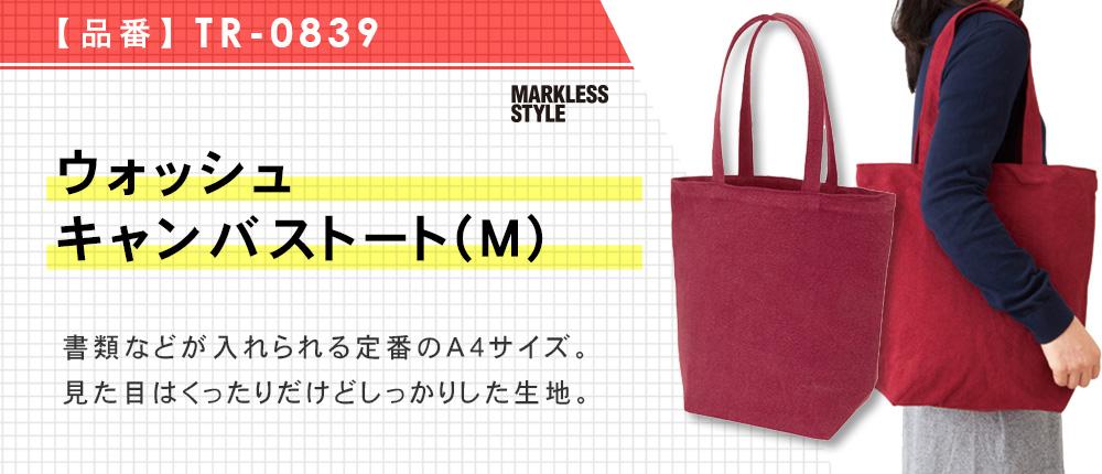 ウォッシュキャンバストート(M)(TR-0839)6カラー・1サイズ