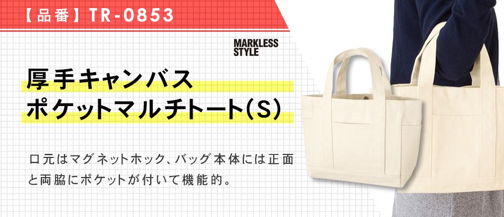 厚手キャンバスポケットマルチトート(S)(TR-0853)2カラー・1サイズ