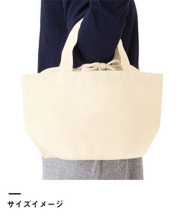 厚手キャンバス巾着付トート(S)(TR-0855)サイズイメージ