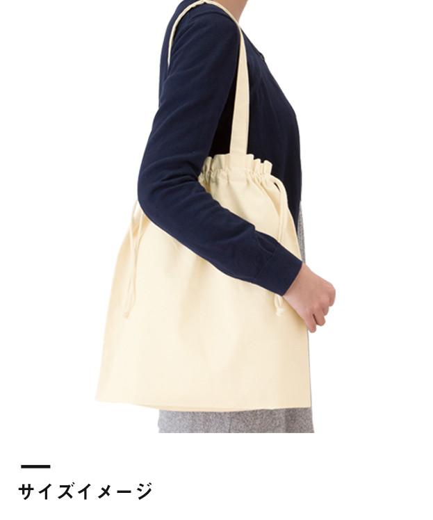 厚手コットンガゼット巾着トート(L)(TR-0872)サイズイメージ