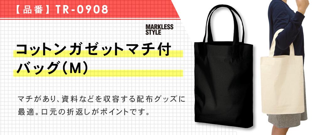 コットンガゼットマチ付バッグ(M)(TR-0908)2カラー・1サイズ