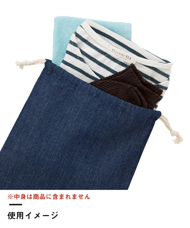 デニム巾着(M)(TR-0919)使用イメージ