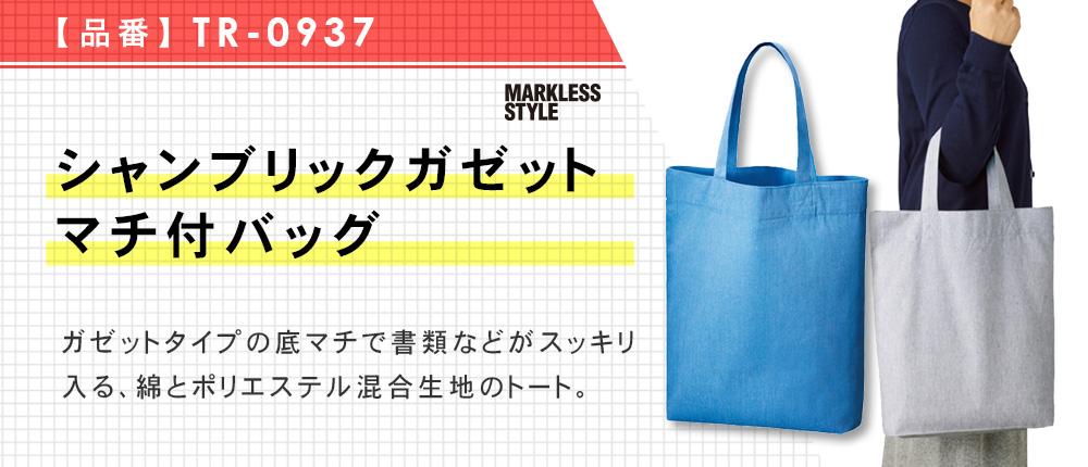 シャンブリックガゼットマチ付バッグ(TR-0937)3カラー・1サイズ