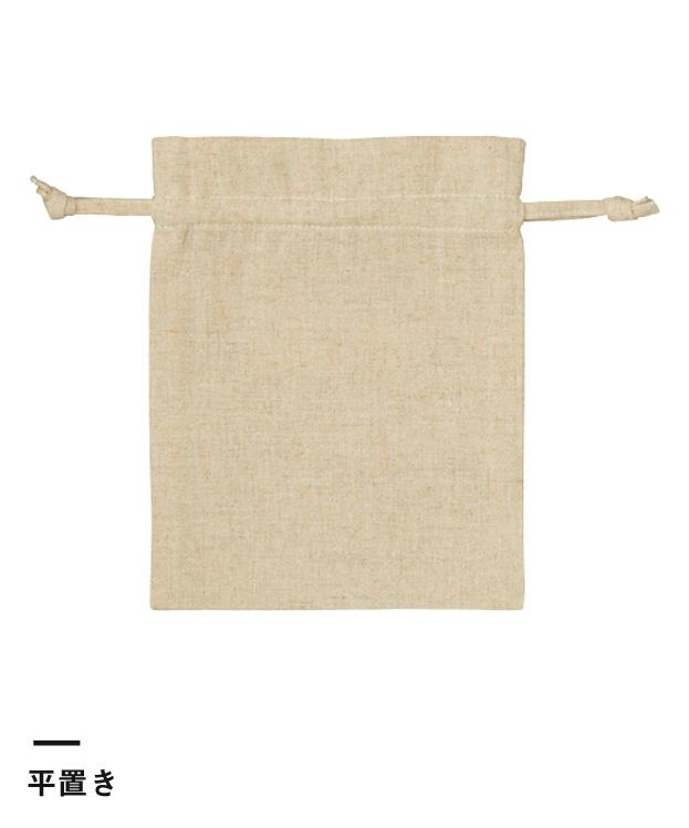 コットンリネン巾着(S)(TR-0985)平置き