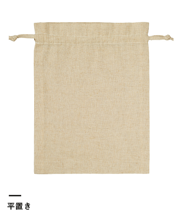 コットンリネン巾着(M)(TR-0986)平置き
