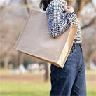 ジュートスクエアトート(L)(TR-1006)ざっくりとした素材感が魅力のジュートバッグ