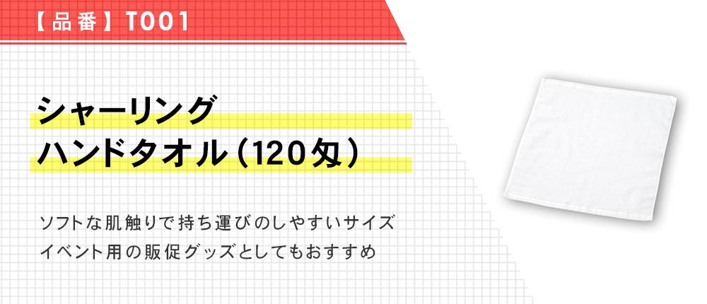 シャーリングハンドタオル(120匁)(T001)1カラー・1サイズ