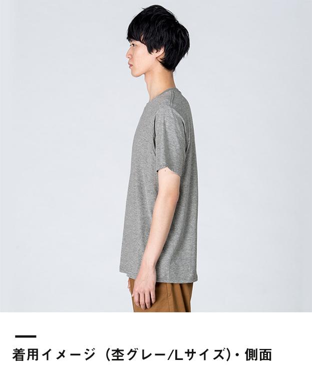4.0オンス ライトウェイトTシャツ(00083-BBT)着用イメージ(杢グレー/Lサイズ)・側面