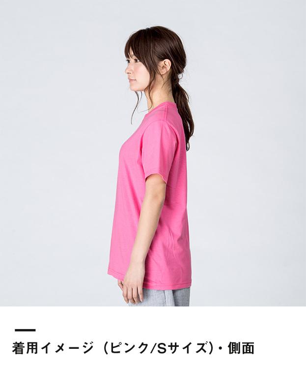 4.0オンス ライトウェイトTシャツ(00083-BBT)着用イメージ(ピンク/Sサイズ)・側面