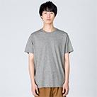 4.0オンス ライトウェイトTシャツ(00083-BBT)着用イメージ(杢グレー/Lサイズ)