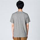 4.0オンス ライトウェイトTシャツ(00083-BBT)着用イメージ(杢グレー/Lサイズ)・背面
