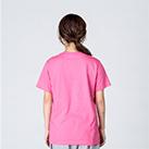 4.0オンス ライトウェイトTシャツ(00083-BBT)着用イメージ(ピンク/Sサイズ)・背面