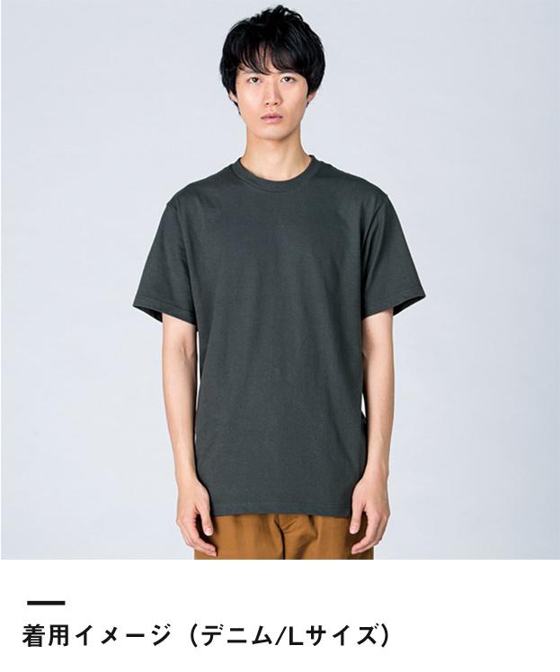 5.6オンス ヘビーウェイトTシャツ(00085-CVT)着用イメージ(デニム/Lサイズ)