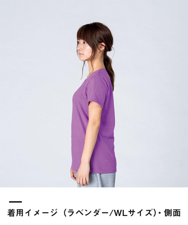 5.6オンス ヘビーウェイトTシャツ(00085-CVT)着用イメージ(ラベンダー/WLサイズ)・側面