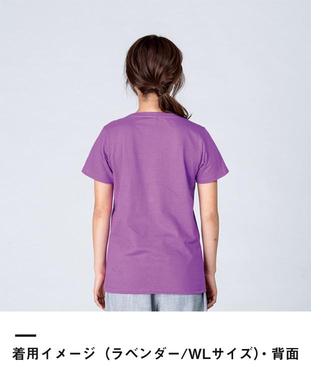 5.6オンス ヘビーウェイトTシャツ(00085-CVT)着用イメージ(ラベンダー/WLサイズ)・背面
