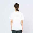 5.6オンス ヘビーウェイトフーディTシャツ(00105-CHD)着用イメージ(ホワイト/Sサイズ)背面