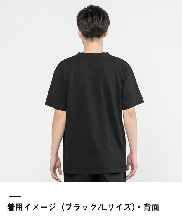 5.6オンス ヘビーウェイトVネックTシャツ(00108-VCT)着用イメージ(ブラック/Lサイズ)・背面