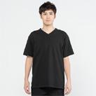 5.6オンス ヘビーウェイトVネックTシャツ(00108-VCT)着用イメージ(ブラック/Lサイズ)