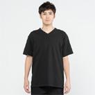 5.6オンス ヘビーウェイトポケットTシャツ(00109-PCT)着用イメージ(ブラック/Lサイズ)