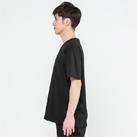 5.6オンス ヘビーウェイトポケットTシャツ(00109-PCT)着用イメージ(ブラック/Lサイズ)・側面