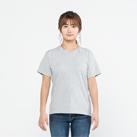 5.6オンス ヘビーウェイトポケットTシャツ(00109-PCT)着用イメージ(杢グレー/Sサイズ)
