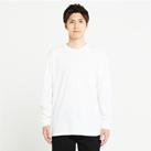 5.6オンス ヘビーウェイトLS-Tシャツ(+リブ)(00110-CLL)着用イメージ(ホワイト/Lサイズ)