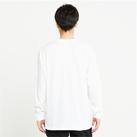 5.6オンス ヘビーウェイトLS-Tシャツ(+リブ)(00110-CLL)着用イメージ(ホワイト/Lサイズ)背面