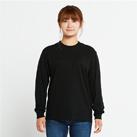 5.6オンス ヘビーウェイトLS-Tシャツ(+リブ)(00110-CLL)着用イメージ(ブラック/Sサイズ)