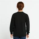 5.6オンス ヘビーウェイトLS-Tシャツ(+リブ)(00110-CLL)着用イメージ(ブラック/Sサイズ)背面