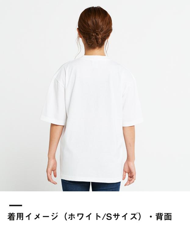 5.6オンス ヘビーウェイトビッグTシャツ(00113-BCV)着用イメージ(ホワイト/Sサイズ)背面
