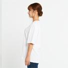 5.6オンス ヘビーウェイトビッグTシャツ(00113-BCV)着用イメージ(ホワイト/Sサイズ)側面