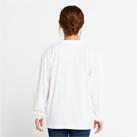 5.6オンス ヘビーウェイトビッグLS-Tシャツ(00114-BCL)着用イメージ(ホワイト/Sサイズ)背面