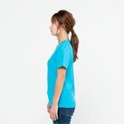 5.8オンス TCクルーネックTシャツ(00117-VPT)着用イメージ(ターコイズ/Sサイズ)・側面
