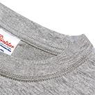 7.4オンス スーパーヘビー長袖Tシャツ(00149-HVL)襟:ハードな使用に耐えうる二本針縫製