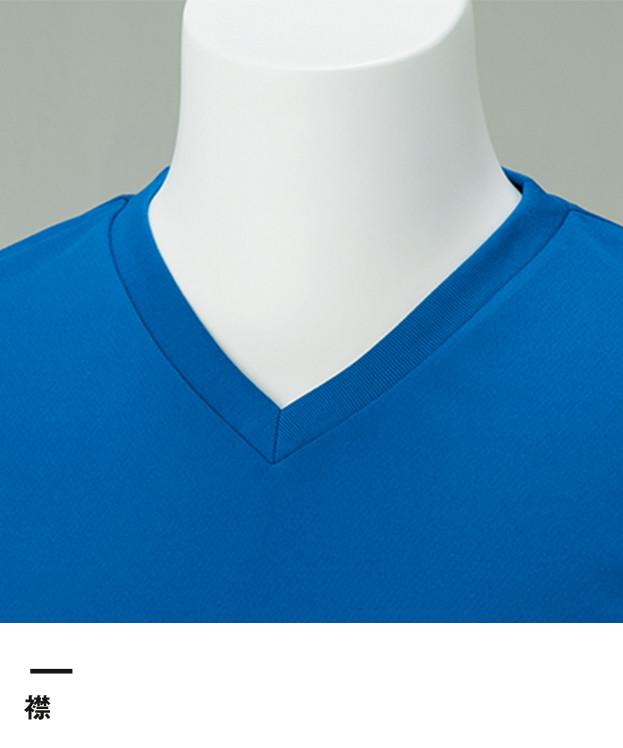 4.4オンス ドライVネックTシャツ(00337-AVT)襟