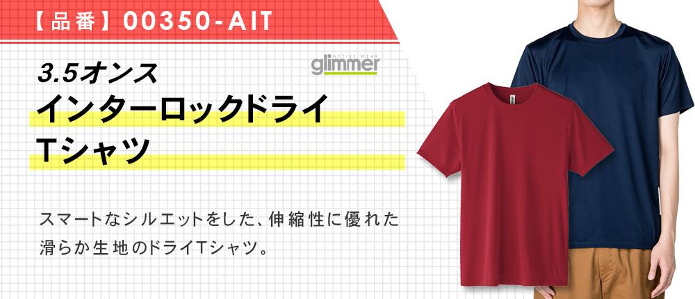 3.5オンス インターロックドライTシャツ(00350-AIT)15カラー・10サイズ