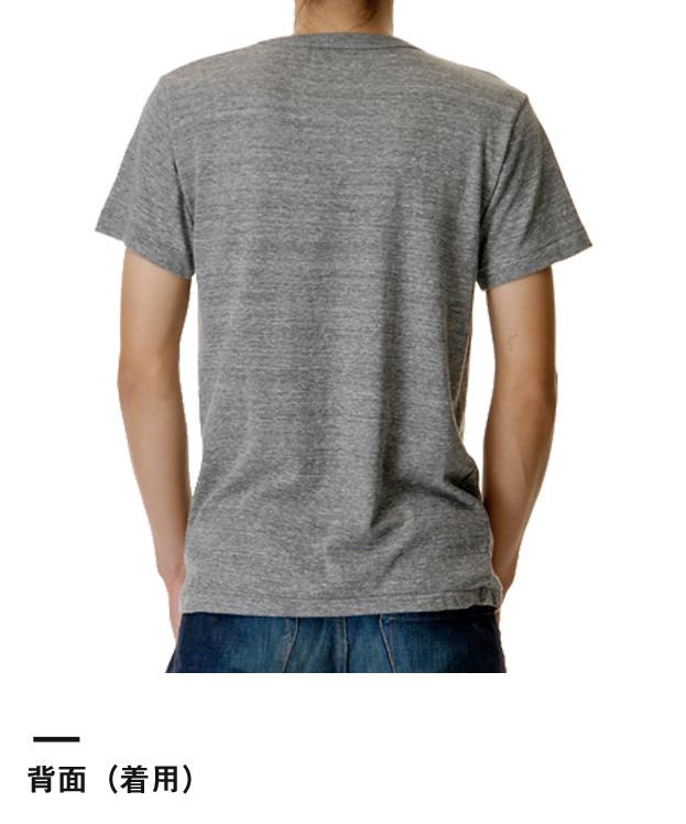 4.4オンス トライブレンドTシャツ(1090-01)背面(着用)