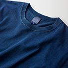 5.3オンス インディゴTシャツ(3990-01)襟