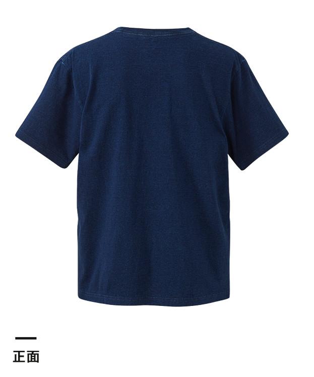 5.3オンス インディゴTシャツ(ポケット付)(3991-01)背面
