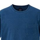 5.3オンス インディゴTシャツ(ポケット付)(3991-01)襟