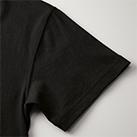 6.0オンス オープンエンドヘヴィーウェイトTシャツ(4208-01)袖口(002 ブラック)
