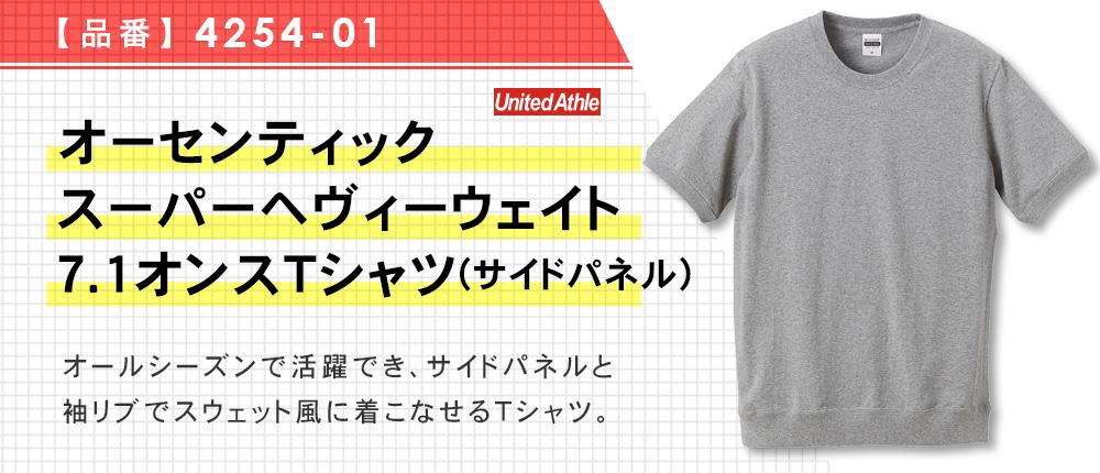 オーセンティック スーパーヘヴィーウェイト7.1オンスTシャツ(サイドパネル)(4254-01)4カラー・4サイズ