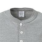 5.6オンス ヘンリーネックTシャツ(5004-01)襟