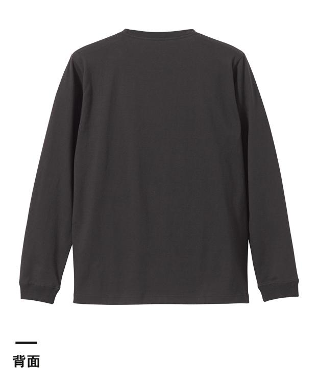 5.6オンス ロングスリーブTシャツ(1.6インチリブ)(5011-01)背面