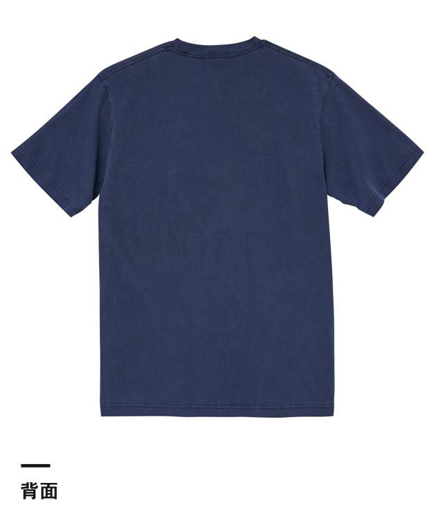 5.6オンス ピグメントダイTシャツ(5020-01)背面