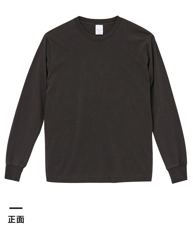 5.6オンス ピグメントダイロングスリーブTシャツ(5021-01)正面