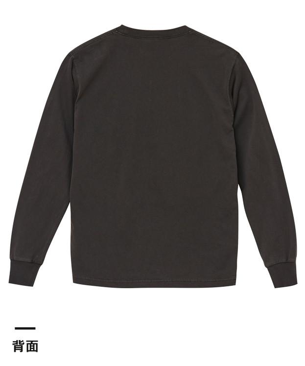 5.6オンス ピグメントダイロングスリーブTシャツ(5021-01)背面