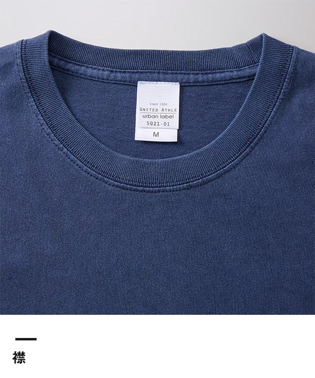 5.6オンス ピグメントダイロングスリーブTシャツ(4256-01)襟