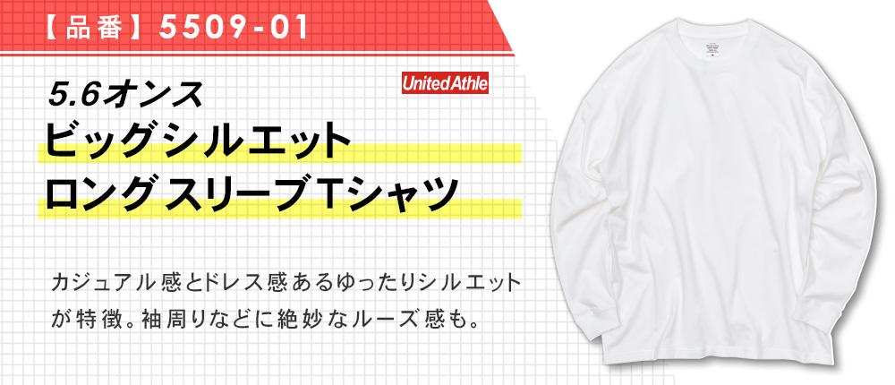5.6オンス ビッグシルエット ロングスリーブTシャツ(5509-01)2カラー・4サイズ